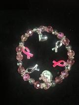 Avon Breast Cancer Crusade Ribbon Charm Bracelet - $9.85