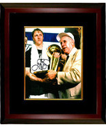 Larry Bird signed Boston Celtics 8x10 Photo Custom Framed (trophy with R... - $154.95