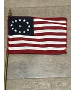Vintage Mini Desk Flag Cowpens Flag 3rd Maryland Flag American Revolution - $5.00