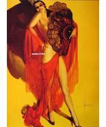 ROLF ARMSTRONG PIN-UP GIRL POSTER ART SEXY HOT SENORITA PASO DOBLE DANCE... - $7.59