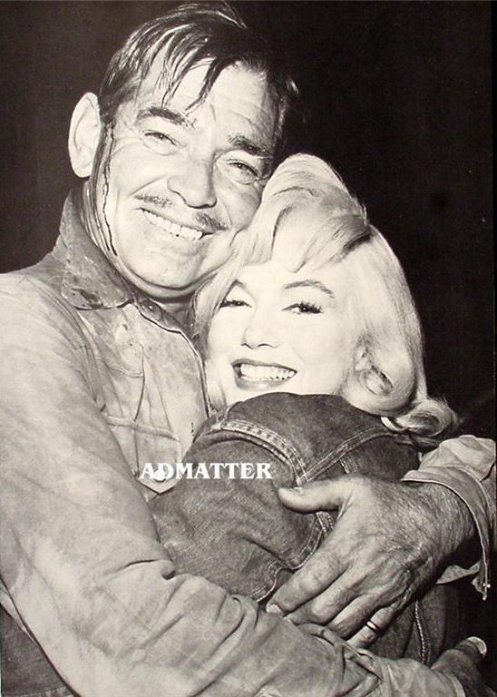 Marilyn Monroe Clark Gable Pinup Poster Misfits Photo