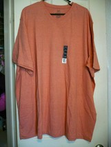 George Men's Short Sleeve Jersey V-Neck Tee Shirt Size 3XL 54-56 Coral R... - $8.55