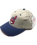Cleveland Indians Vintage MLB Khaki Logo Cap (new) by Annco - $22.99