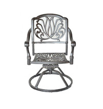 Patio bistro set 3 Piece outdoor swivel rocker Elisabeth chairs cast aluminum image 2