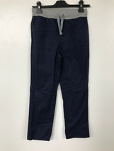 Spotted Zebra Boys Drawstring Pants Navy/Gray Large (10) - $8.04