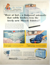 Claire McCardell Philco Washing Machine Vintage Print Ad 1956 Miracle Fa... - $9.85