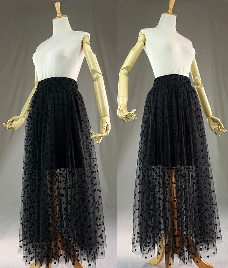 Black dot tulle skirt 1