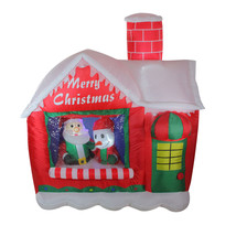 5.5' Inflatable Santa's Workshop Lighted Christmas Outdoor Decoration - £87.58 GBP