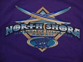 North Shore Performance Surfboards Hawaii Beach Surfing Purple T Shirt X... - $17.71