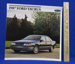 Vintage 1987 Ford Taurus Car Dealership Brochure Information Booklet Sales - $7.91