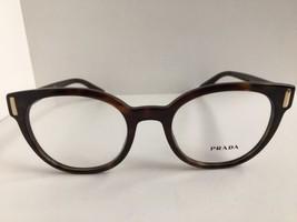 New PRADA VPR 0T6 50mm Round Tortoise Eyeglasses Frame No case #8 - $189.99