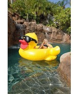 Rubber duckie pool float giant inflatable raft 6 ft water toy adult kid ... - $49.45
