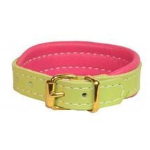 Perri's Padded Leather Bracelet Mint and Pink image 1