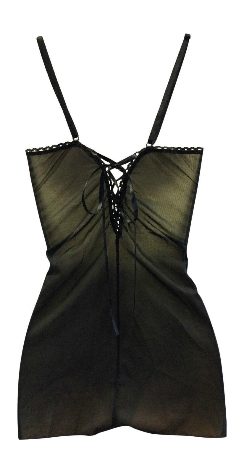 Ex High Street Lingerie chain Black Chemise 18 uk, 46 eur, 14 usa