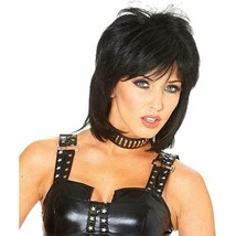 Costume Culture 80s Cool Black Joan Jett Wig Halloween Costume Accessory... - $22.37 CAD