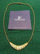 Swarovski Crystal Gold Tone Choker Necklace - $70.00
