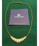 Swarovski Crystal Gold Tone Choker Necklace - $70.00