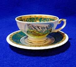 Vintage Demitasse Cup Saucer Rudolf Watcher Handpainted Bavaria - $12.50