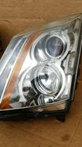 08-13 Cadillac CTS 4 door Sedan Halogen Headlight Lamp Set L&R image 6