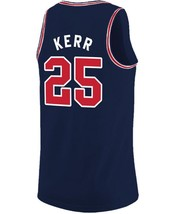 Steve Kerr College Custom Basketball Jersey Sewn Navy Blue Any Size image 5