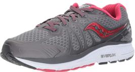 Saucony Echelon 6 Size 10 D WIDE EU 42 Women's Running Shoes Gray Pink S... - $63.69