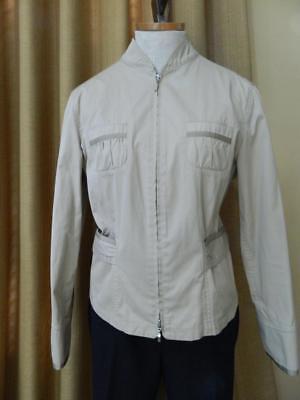 Giorgio Armani Black Label Jacket Light Tan Coat Outerwear 12 US 46 IT Ladies