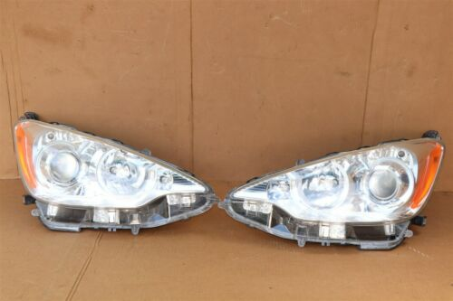 "12-15 Toyota Prius ""C"" NHP10 Headlight Head Light Lamps Set Pair L&R POLISHED"