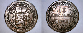 1860-A Luxembourg 10 Centimes World Coin - $24.99