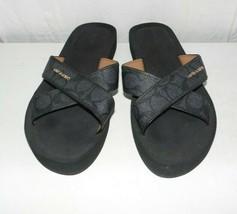 Coach Janine Black Slides Sandals Women 7B - $39.55