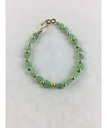 "Aventurine Stone Bead Handmade Bracelet 8"" - $14.01"