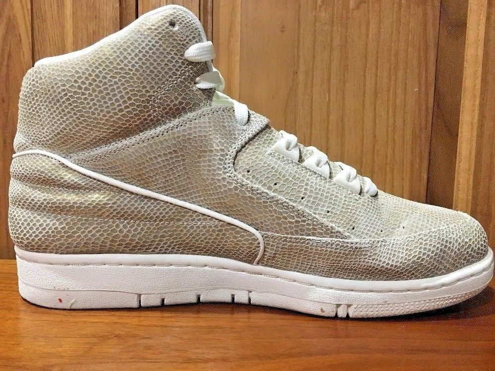 newest deb84 b9062 Nike Air Python Men S Sail Metallic Gold Basketball Shoes Shoe Mens  Sneakers 9.5