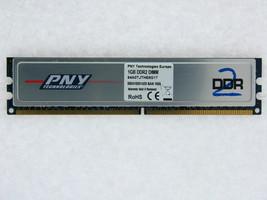 1GB Pny DDR2-800 Ram PC2-6400U CL5 64A0TJTHE8G17 Heatspreader Mem Module Tested - $15.84