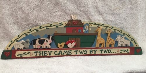 Over Door Wall Plaque Noah' Ark They Came Two By Two Kid Home Decor Wall Accent