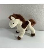"Douglas Horse Plush White Brown 8"" Long Stuffed Animal Toy Pony Machine ... - $11.88"