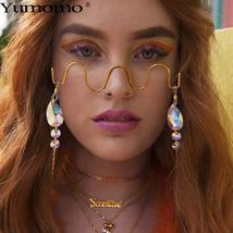 Luxury Fashion Diamond eyeglasses Alloy Frame for Women green and Red Pink Gem L image 2