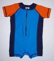 Hanna Andersson Blue Orange Swim Rash Guard Swim Suit Size 60 Cm 3-6 Months - $18.69