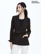 New Banana Republic Women Belted Blazer Black Size 6 Msrp$120.00 - $76.99