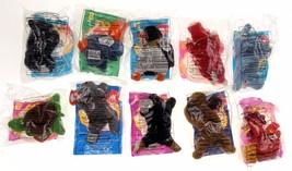 McDonalds Toys TY Beanie Baby Lot of 10 Mel Strut Snort Nook Peanut Wadd... - $16.49