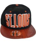 St. Louis Men's Snapback Baseball Cap (Black/Red Textured) - $12.95