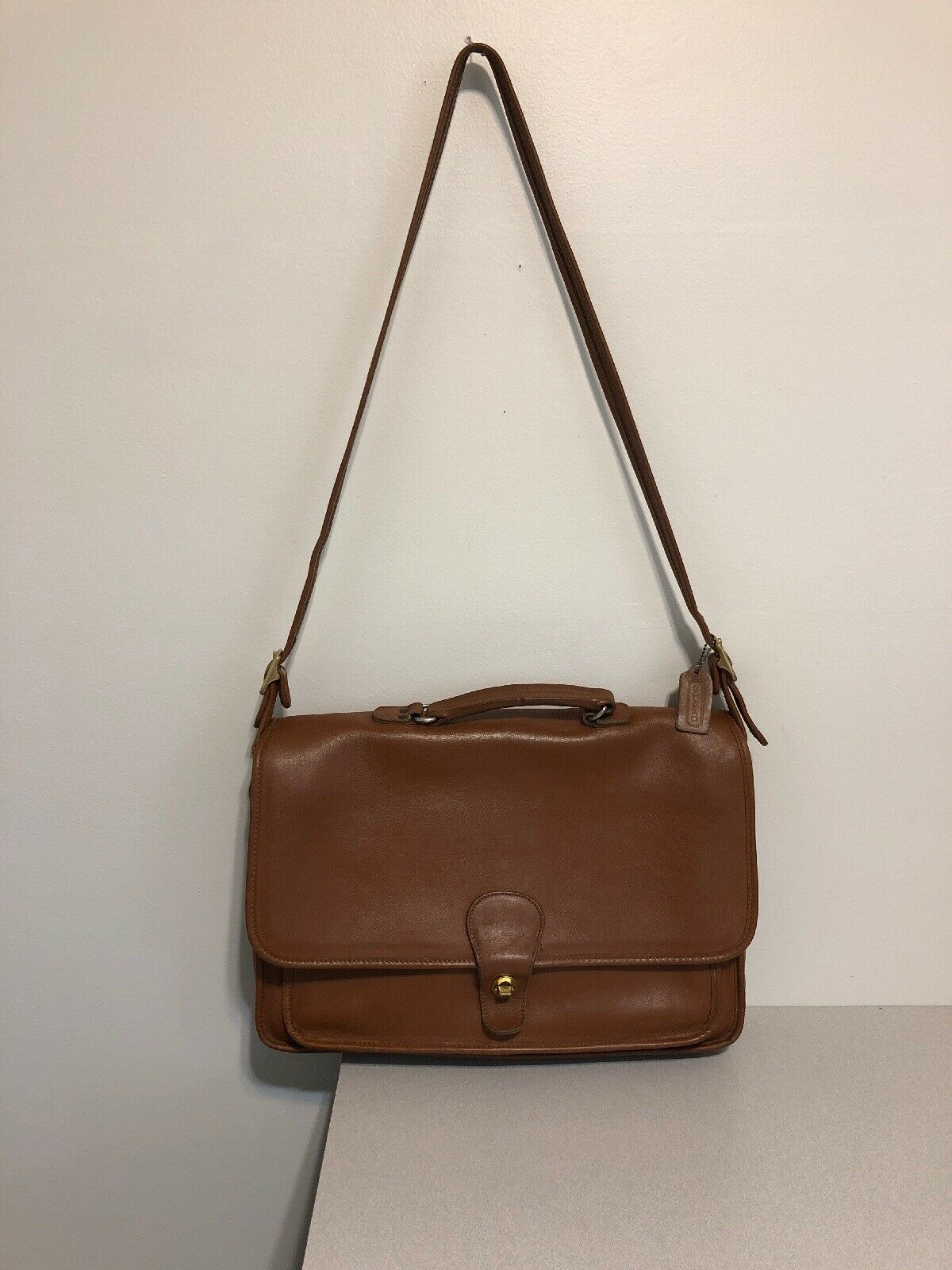Vintage COACH L6C- 5180 Metropolitan Leather Messenger Attache Tan