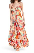ALEXIS for Target Mixed Floral Sleeveless Tiered Ruffle Dress Sz M Desig... - $123.75