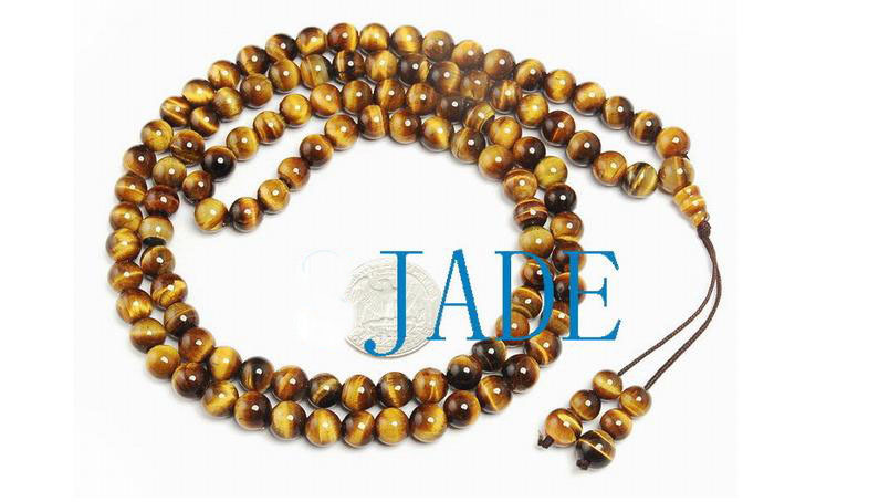 "32"" A Grade Tiger's Eye Meditation Prayer Beads Mala"