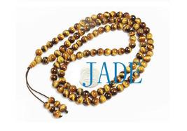 "32"" A Grade Tiger's Eye Meditation Prayer Beads Mala image 2"