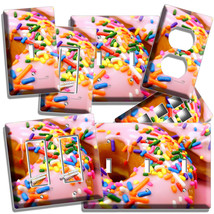 Pink Donuts Rainbow Sprinkles Light Switch Wall Plates Outlet Room Kitchen Decor - $9.99+