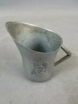 """Vintage 2.75"""" Pewter Pitcher Creamer Teysen's Gift Shop Mackinaw City Michigan image 1"""