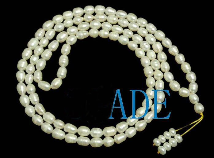 "37"" Natural Pearl Meditation Yoga 108 Prayer Beads Mala"