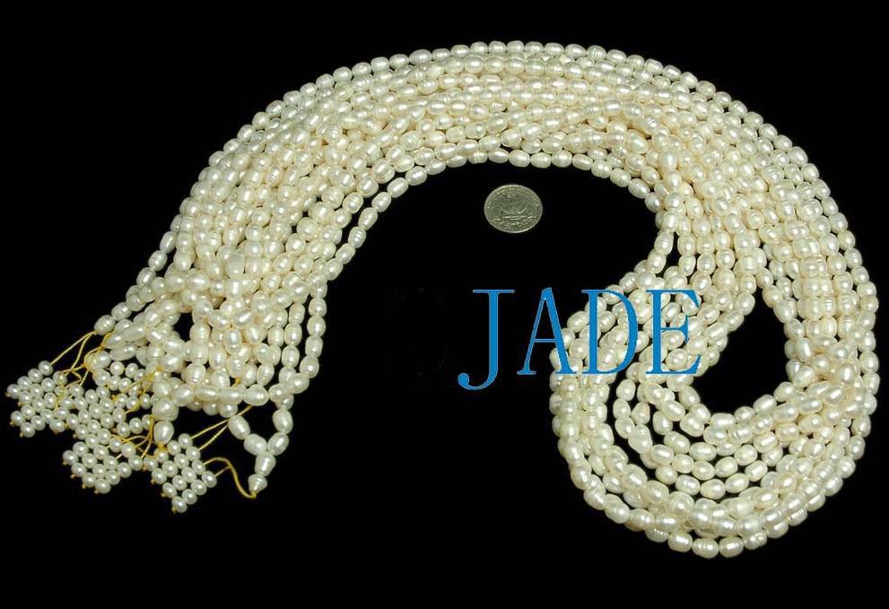"37"" Natural Pearl Meditation Yoga 108 Prayer Beads Mala image 2"