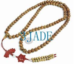 "45"" Tibetan 108 PCS Carved Sandalwood Prayer Beads Mala image 1"