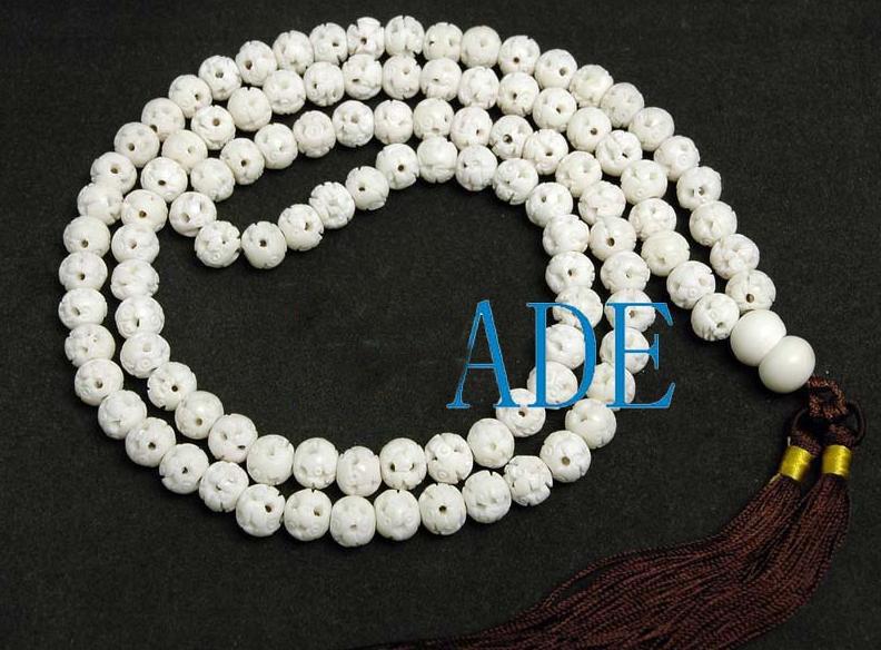 "30"" Ox Bone Yoga/Meditation/Mantra Prayer Beads Mala"