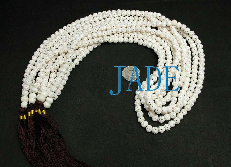 "30"" Ox Bone Yoga/Meditation/Mantra Prayer Beads Mala image 2"